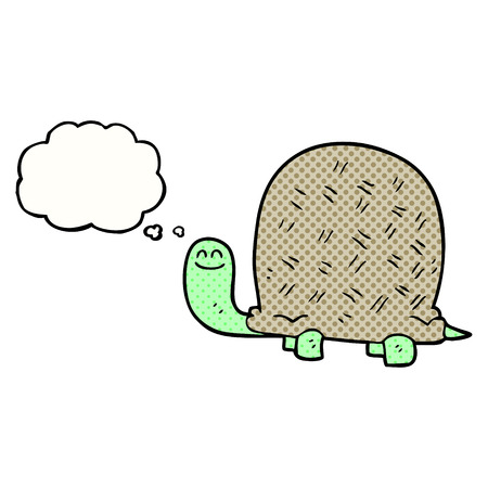 tortoise: freehand drawn thought bubble cartoon tortoise