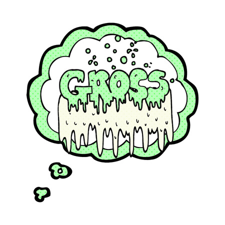 gross: freehand drawn thought bubble cartoon gross symbol