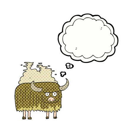 smelly: freehand drawn thought bubble cartoon smelly cow