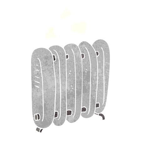 radiador: a mano alzada del radiador retro de la historieta