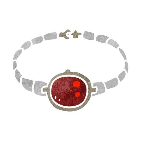 ruby: freehand retro cartoon ruby bracelet Illustration