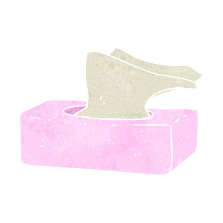 Tissues: freehand retro cartoon box of tissues
