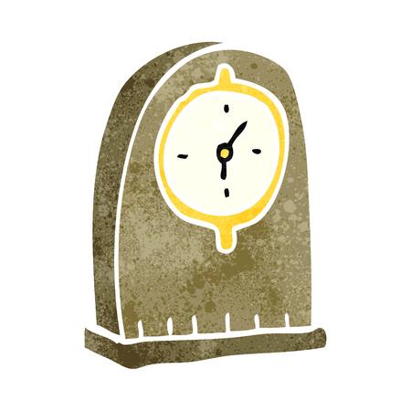 old clock: freehand retro cartoon old clock Illustration