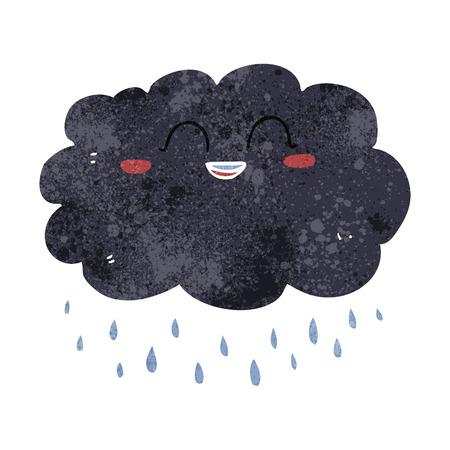 stormcloud: freehand retro cartoon raincloud