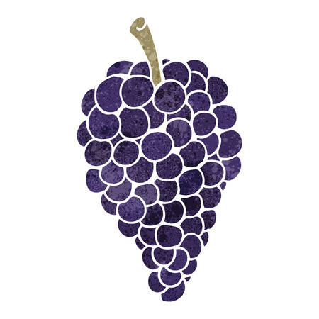 freehand retro cartoon grapes