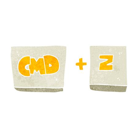function key: freehand retro cartoon command Z function