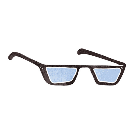 spectacles: freehand retro cartoon spectacles