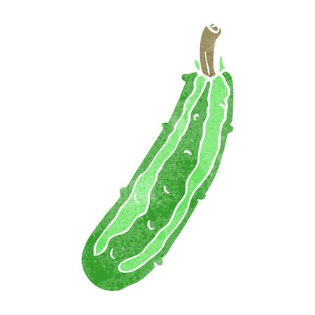 courgette: freehand retro cartoon zucchini