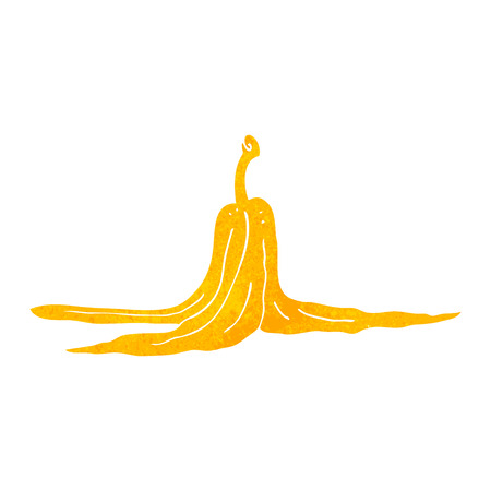 peel: freehand retro cartoon banana peel Illustration