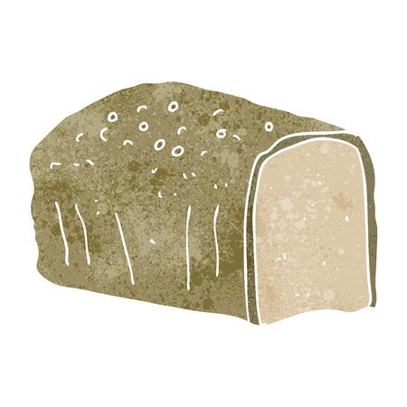 cartoon bread: freehand retro cartoon bread