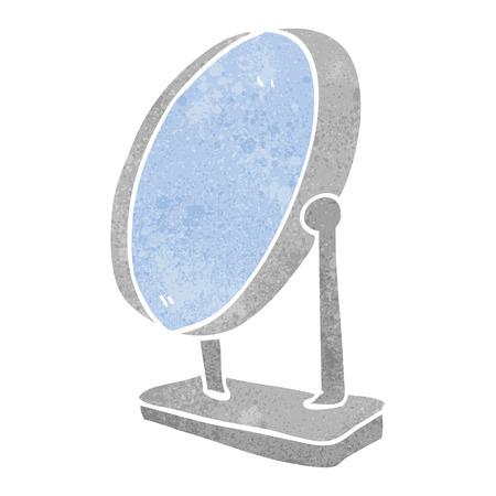 free clip art: freehand retro cartoon mirror