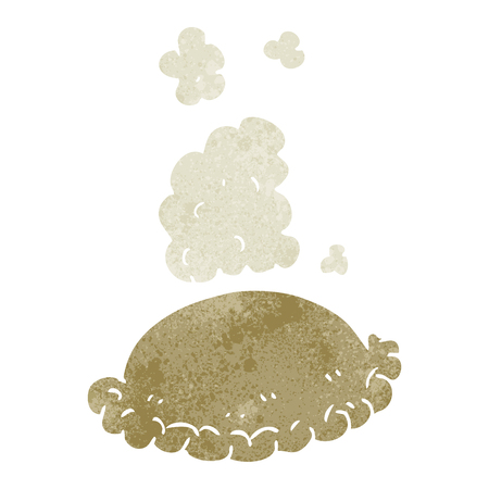 pasty: freehand retro cartoon baked pasty