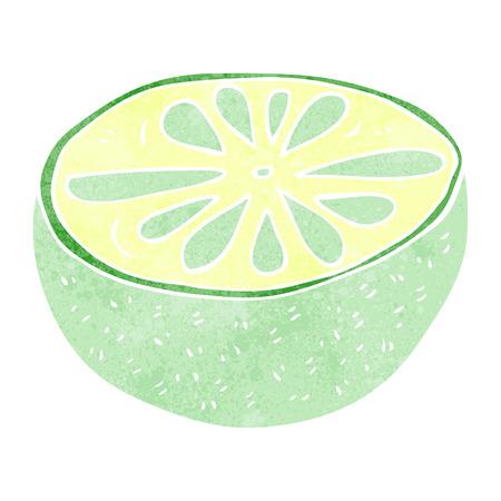 half: freehand retro cartoon half melon