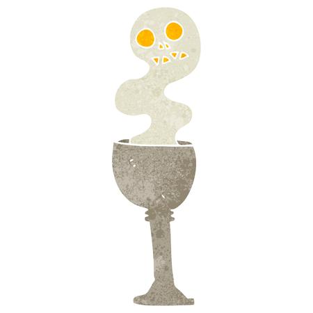 goblet: freehand retro cartoon spooky halloween goblet