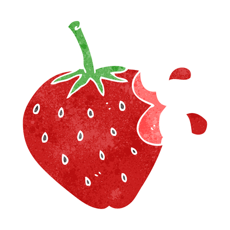 freehand retro cartoon strawberry