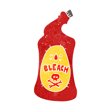 bleach: freehand retro cartoon bleach bottle