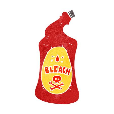 bleach: freehand retro cartoon bleach bottle
