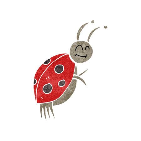 ladybug: freehand retro cartoon ladybug