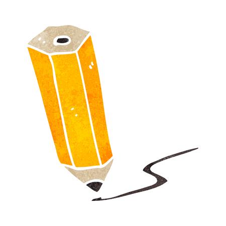scribbling: freehand retro cartoon pencil scribbling