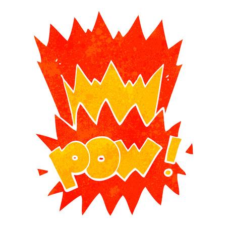 pow: freehand retro cartoon pow symbol Illustration