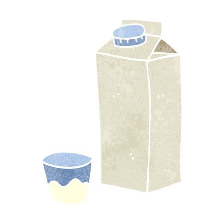carton de leche: a pulso retro cartón de leche de la historieta