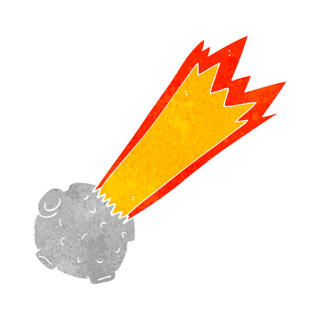 meteor: freehand retro cartoon meteor Illustration