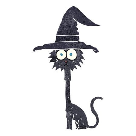 a mano libera fumetto retrò halloween gatto