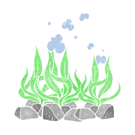 seaweed: freehand retro cartoon seaweed