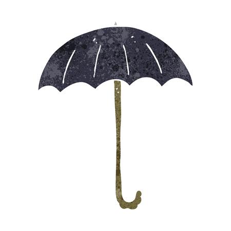 cartoon umbrella: freehand retro cartoon umbrella Illustration