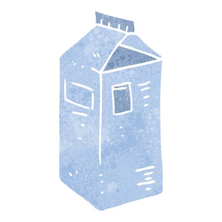 carton de leche: a pulso retro cart�n de leche de la historieta