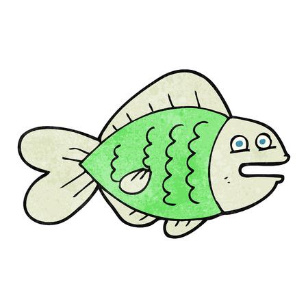 funny fish: freehand retro cartoon funny fish
