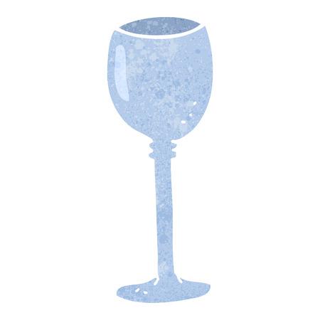 free clip art: freehand retro cartoon wine glass Illustration