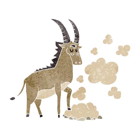 antelope: freehand retro cartoon antelope