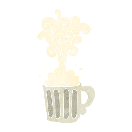 tankard: freehand retro cartoon exploding beer