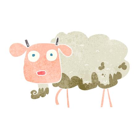 muddy: freehand retro cartoon muddy goat Illustration