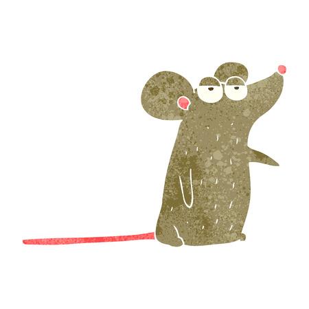 crazy cartoon: freehand retro cartoon mouse