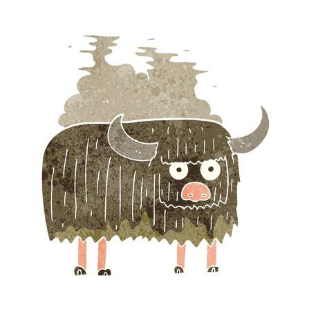 Rétro bande dessinée freehand vache malodorante Banque d'images - 53703149