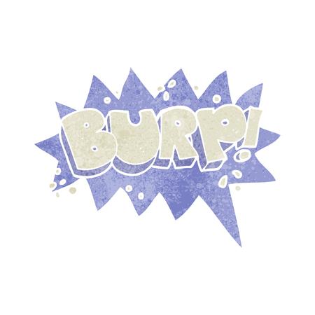 burp: freehand retro cartoon burp symbol