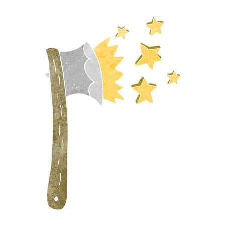 sharp: freehand retro cartoon sharp axe