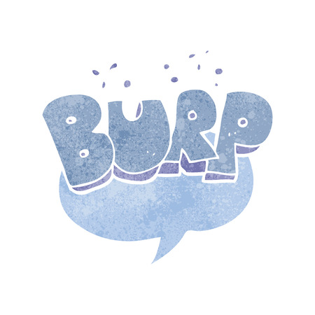 belch: freehand retro cartoon burp symbol