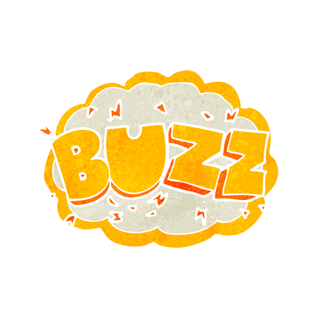 buzz: freehand retro cartoon buzz symbol