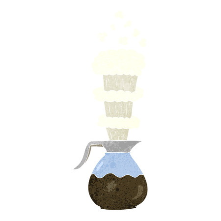 extra: freehand retro cartoon extra strong coffee jug Illustration