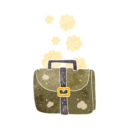 satchel: freehand retro cartoon old work bag