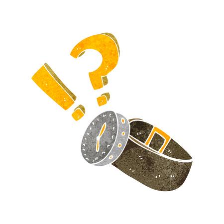 wrist: freehand retro cartoon wrist watch