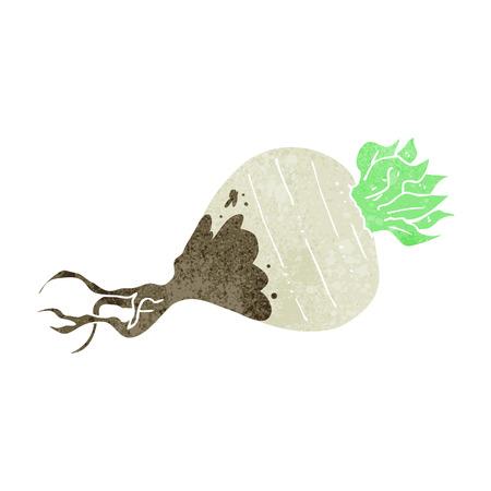 turnip: freehand drawn retro cartoon turnip Illustration