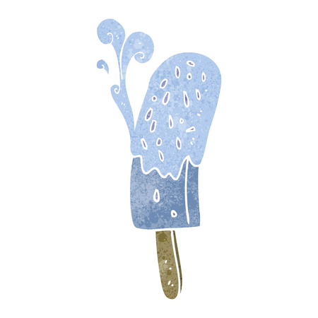 lolly: freehand drawn retro cartoon ice lolly