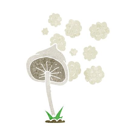 spores: freehand retro cartoon mushroom