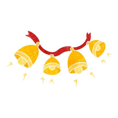jingle bells: freehand retro cartoon jingle bells