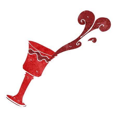 free clip art: freehand drawn retro cartoon goblet of wine