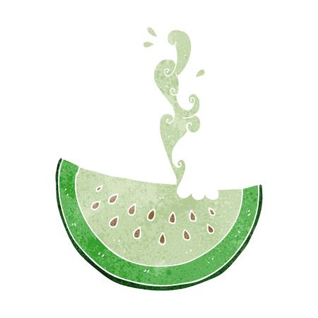 melon: freehand drawn retro cartoon melon slice